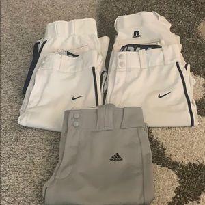Lot of 5 pairs of baseball pants